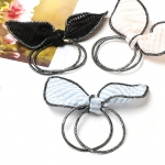 w1382 - Hair Accessories,ที่คาดผม,เครื่องประดับผม,กิ๊ปติดผม,เครื่องประดับ rabbit ears high elastic rubber band
