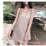 *Mini Dress Bling bling งานสายเดี่ยวสามารถปรับผูกได้ตามชอบใจ*