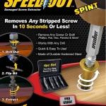SPEED OUT ชุดเครื่องมือถอนหัวน็อต / สกรู / ตะปู ที่ชำรุดฝังแน่นให้ถอนออกได้อย่างง่ายดายใน 10 วินาที