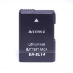 Battery เทียบเท่า Nikon EN-EL14 for Nikon DF D5500 D5300 D5200 D5100 D3300 D3200 D3100 P7100 P7700 P7800 P7000