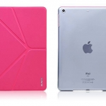 XUNDD 5 พับ หลังใสโชว์โลโก้ Apple (เคส iPad Air 1)