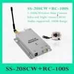 SS-208CW+ RC-100S - 1.2GHz Mini Wireless Camera Kit