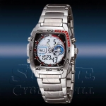 WEIDE – WH836-2: Dual Time Dual System Stainless Steel Sports Watch