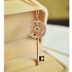 C257 - สร้อยคอแฟชั่น,สร้อยคอ,สร้อยแฟชั่น,เครื่องประดับ sweater chain length necklace key pendant