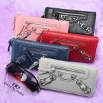 กระเป๋าสตางค์ Balenciaga หมุดเงิน สินค้าสุดฮิตขายได้ตลอดไม่มีตกเทรน มี 5 สี สีดำ กรม เทาเข้ม เทาอ่อน ตาล
