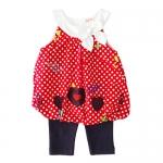 เสื้อผ้าเด็กขายส่ง ชุดเสื้อทรงบอลลูน กางเกงเลกกิ้ง ผ้าคอตตอนเนื้อนุ่ม Size 3/6, 6/9, 9/12 เดือน