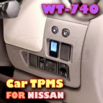 ROYCEED WT740 Car TPMS With Miniature Monitor For NISSAN