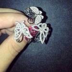 Diamond Bracelet+Ring กำไลข้อมือและแหวนเข้าเซตงานผีเสื้อเพชร งานเพชร CZ แท้งานเกรดไฮเอน