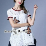 Sweet Bunny Present... Embroidered Butterfly Lace Mini Dress