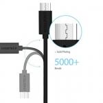 สาย USB ของแท้ CHOETECH ยาว 1 m Micro USB Date Sync Charge Cable สีดำ
