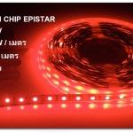 ไฟเส้นLED Strip 3528 กำลังไฟ12V IP33 งานภายใน แสง red / สีแดง สินค้ารับประกัน 1 ปี