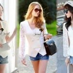 Organdy White Retro Lace Blouse