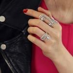 APM Diamond Ring แหวนเพชร CZ แท้ เพชรสวยเลอค่า เพชรน้ำขาววาว เด้งไฟมาก ตัวเรือนสีเงิน