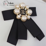 *Chanel Black Ribbin Brooch*