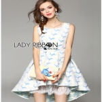 Lady Ribbon Vanessa Pretty Sweet Reindeer Pleated Dress