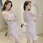 Camelia Creamy Line Luxury Dress