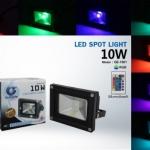 LED FLOODLIHGT 10W RGB สลับสี 7 สีพร้อมรีโมท