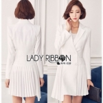 Lady Martin Smart Elegance Suit Pleated Dress