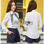 Lady Ribbon Sabrina Smart Casual Embroidered