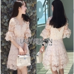 Lady Ribbon Anna Sweet Pink Lace Dress