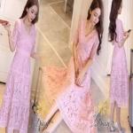เสื้อผ้าแฟชั่นเกาหลีสีหวานๆ ชมพู Pink