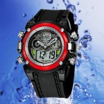 OHSEN – AD0721-3: Dual System Alarm / Chronograph Sports Watch