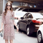 Korea Design By Lavida Elegant blossom lace top diva skirt set code