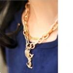 AI1767 - สร้อยคอแฟชั่น,สร้อยคอ,สร้อยแฟชั่น,เครื่องประดับ rose gold metal necklace