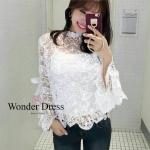 สื้อลูกไม้เกาหลีที่สาวๆควรมีไว้ติดตู้ค่ะ เสื้อตัวนี้ใช้ลูกไม้ นำเข้าจากเกาหลี
