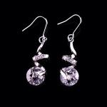 AT2258 - ต่างหูเพชร ตุ้มหูเพชร ตุ้มหู ต่างหู ต่างหูระย้า เครื่องประดับ bridal jewelry earrings