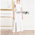 Dress Lady Ribbon ขายเดรสแขนระบาย