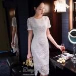เสื้อผ้าแฟชั่นเกาหลีสวยๆเดรสลูกไม้เกรดพรีเมี่ยมใช้ลูกไม้เนื้อดี