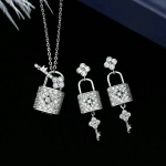 Diamond Necklace+Earring เซตต่างหู+สร้อย งานเพชร CZ แท้