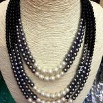 Pearl Necklace สร้อยมุก 5 แถวประดับโลโก้ชาแนล เรียบหรูดูดีเส้นเดียวจบเป๊ะปัง