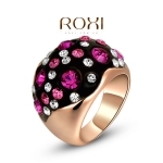 AQ2032 - แหวนทอง,แหวน,ทองคำ,เครื่องประดับ red, white and rose gold diamond ring