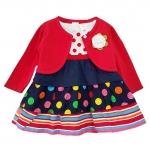**Gymboree** SM1914 Size 9/12, 12/18, 18/24 เดือน เสื้อผ้าเด็กขายส่ง ชุดกระโปรงเด็กระบายชั้น พร้อมเสื้อคลุม ผ้าคอตตอนเนื้อนุ่ม