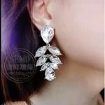 G692 - ต่างหูแฟชั่น ต่างหูหนีบ ต่างหูเกาหลี ตุ้มหูแฟชั่น ตุ้มหู ต่างหู เครื่องประดับ mimosa leaves earrings