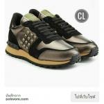 Valentino sneaker ผ้าใบงานชนชอป หนังนิ่มนวมซับในบุหนา