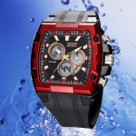 OHSEN – AD0918-4: Dual System Alarm / Chronograph Sports Watch