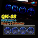 QM-08 : Analog VU Meter + Temp. + Volt Meters