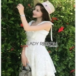 Lace Mini Dress Lady Ribbon มินิเดรส