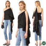 เสื้อไหล่เดี่ยวแขนระย้ายาวดีเทลปังมากคะ 💥💥 ดีเทลเนื้อผ้าpoly ผสม Cotton100% แบบมีน้ำหนักอยู่ทรงสวยในการตัดเย็บพิเศษอย่างดี