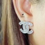 Chanel Earing งานเพชร CZ แท้ เกรด AAA+