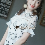 Girly Lace Blooming Blouse
