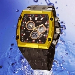 OHSEN - AD0918-6: Dual System Alarm / Chronograph Sports Watch