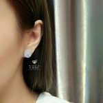 Diamond earring ต่างหูเพชรCZ8Aฝังแท้ ฝังแบบไมโครเซตติ้ง งานจี๊ดมากบอกเลย