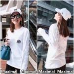 😁ราคา 690 บาท😁พร้อมขาย💯💯เสื้อยืดแขนยาวสกรีนลาย Chromeheart 📢📢จัดพรีครบทุกคนจ้า มารับได้เลย ว่างจอง ขาวS5,M1 / ดำS4 Brand:Design by Korea Composition: Polyester Color:ดำ,ขาว (Black,White) *น่ารักชิคสุดๆกับเสื
