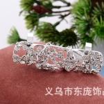 AX2451 - แหวนแฟชั่น,แหวน,แหวนเกาหลี,เครื่องประดับ diamond flower full of diamond rings