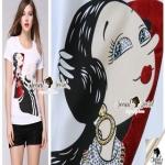 Seoul Secret Olivia's Print T-Shirt เสื้อยืดใส่สบายๆ รับซัมเมอร์ เก๋ๆ น่ารักๆ