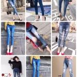 กางเกงยีนส์แฟชั่นแต่งรอยขาด แบรนด์เกาหลี Daisy